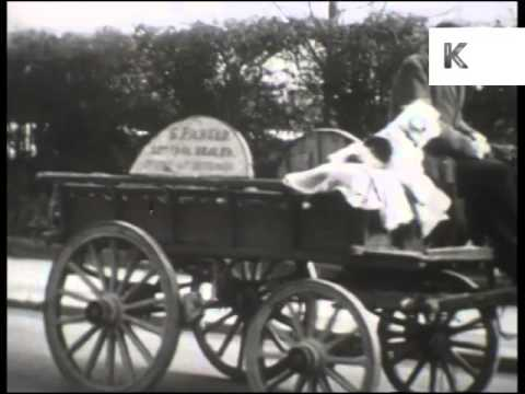 1950s UK Rag and Bone Man, Scrapyard, Scrap, Archive Footage