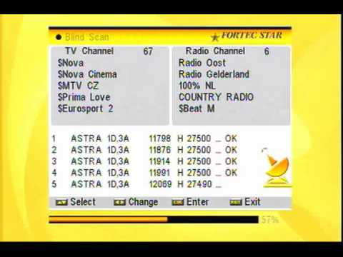 Blind Scan Of Astra 3a 3b 23 5 E Thursday 30th June 2011 Youtube