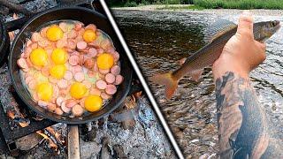 Рыбалка на Новой реке Часть 2 Крупные Хариусы под Кустом Сломал Удочку