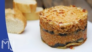 MOUSSAKA GRIEGA | Lasaña de carne, berenjena y patata