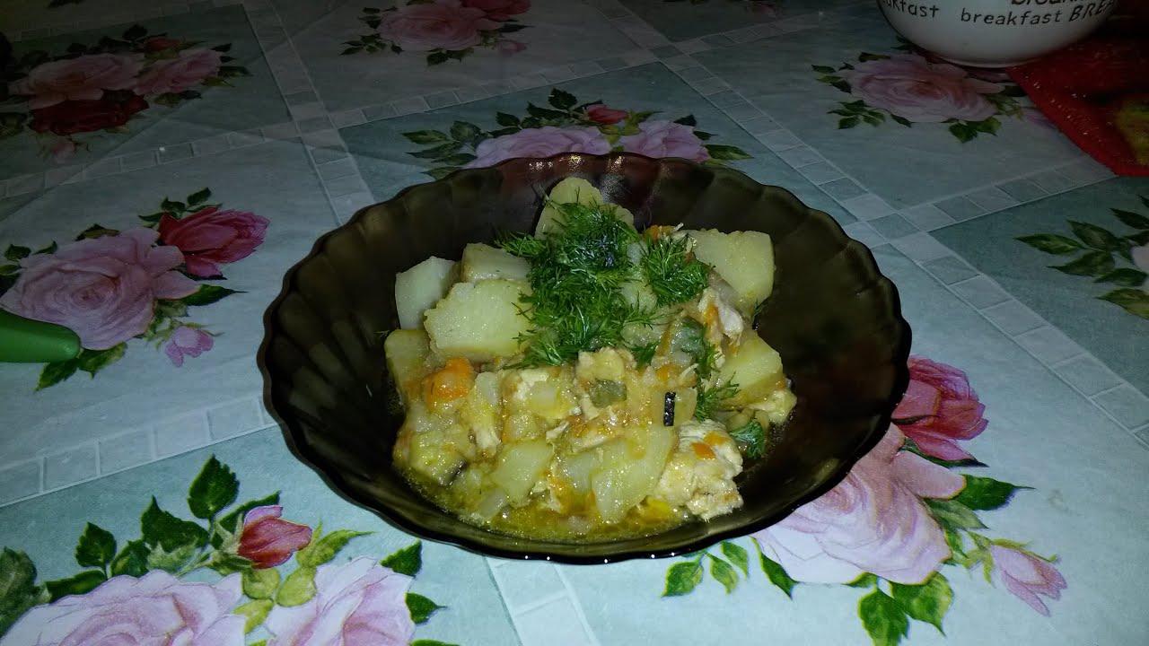 Овощное рагу с куриной грудкой в мультиварке Polaris PMC 0517AD|жареная картошка с мясом в мультиварке поларис