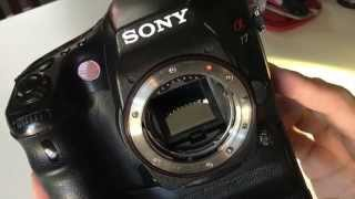 Sony a77 Camera Cleaning with Eyelead Gel Cleaner