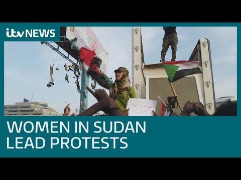 Sudan women lead the anti-government protests   ITV News