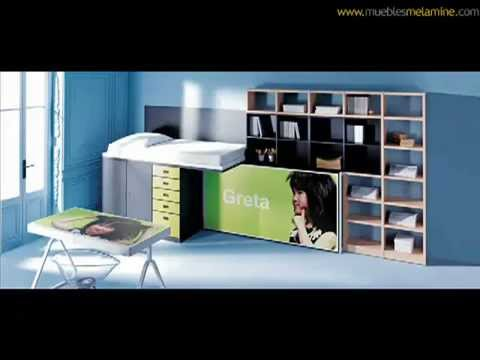 Dormitorios muebles de melamine youtube for Muebles de pared para dormitorio