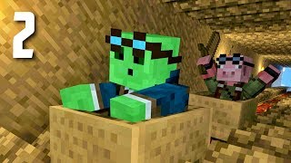 Slime Swine Adventures - Minecraft Co-op Survival : POOR PIG!
