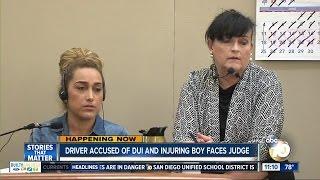 Driver accused of DUI and injuring boy faces judge