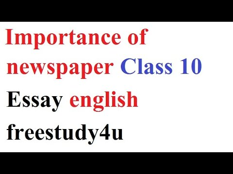 essay english newspaper