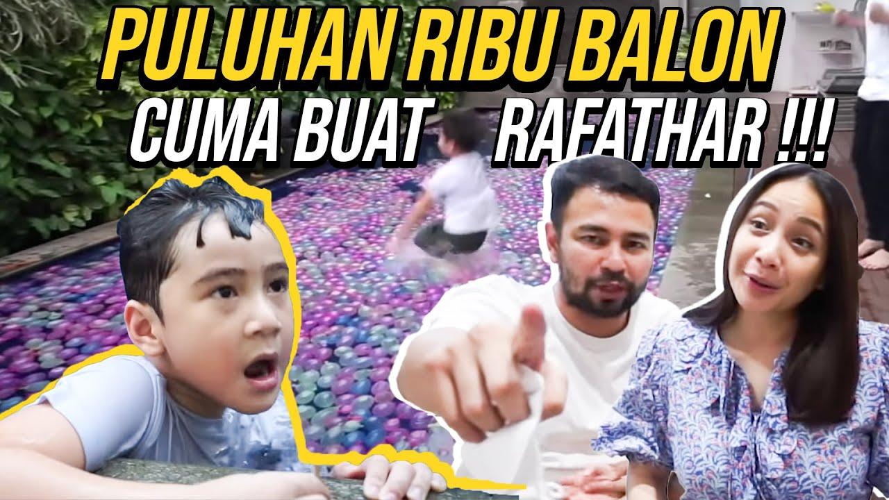 RAFFI RAFATHAR PENUHIN KOLAM RENANG PAKE PULUHAN RIBU BALON AIR...