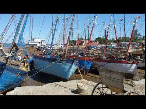 Madagascar. Mahajanga port. Low tide.