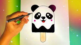 Как нарисовать МОРОЖЕНОЕ ПАНДА? Лёгкие рисунки для срисовки №438