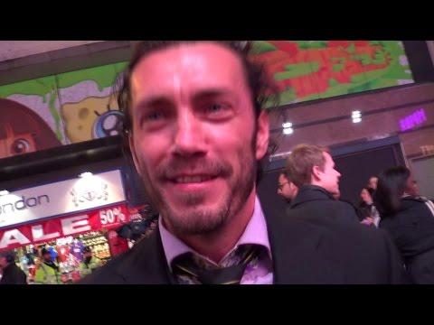 ROYD TOLKIEN signs Wizard Staff 4 'Life Flight' charity @ The Hobbit 3 premiere, London