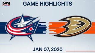 NHL Highlights   Blue Jackets vs Ducks – Jan. 7, 2020