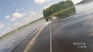 По воде, да на лыжах