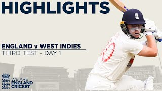 Day 1 Highlights | Buttler And Pope Impress With 100+ Partnership! | England v West Indies 3rd Test