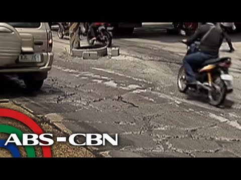 TV Patrol: Mga kalsadang may pinsala at ginagawa sa Metro Manila, alamin