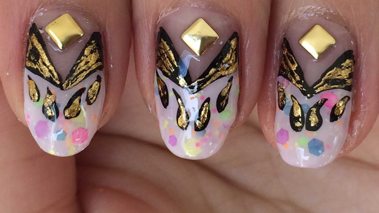 Fun colorful and stylish nail art foil design youtube fun colorful and stylish nail art foil design prinsesfo Image collections