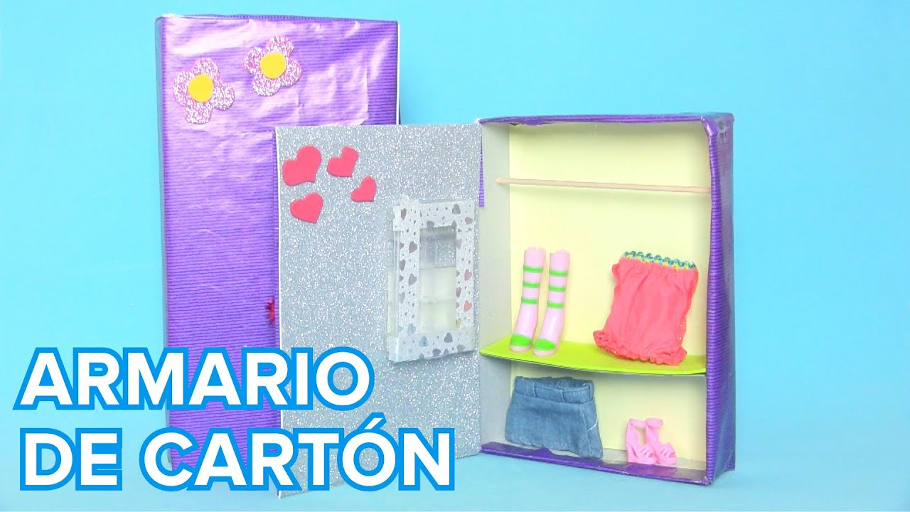 Cómo hacer un armario de cartón para muñecas | Manualidades ...