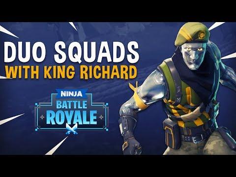Duo Squads With King Richard - Fortnite Battle Royale Gameplay - Ninja