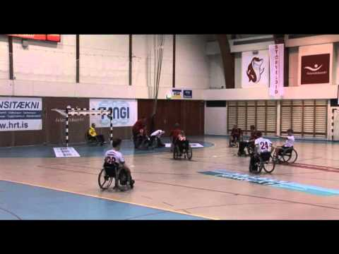 HK vs AFL - Wheelchair handball practice match