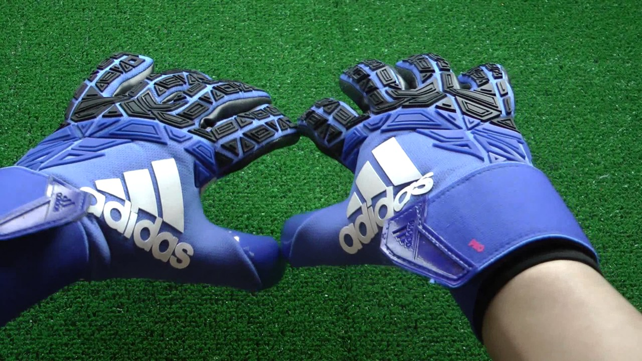 brand new aed83 9d240 Adidas Ace Trans Pro Goalkeeper Gloves Blue and Black Preview