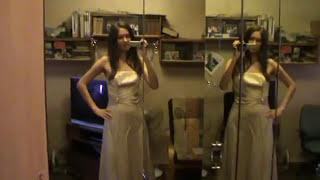 Вечернее или Свадебное платье,золотисто бежевое.7000 р