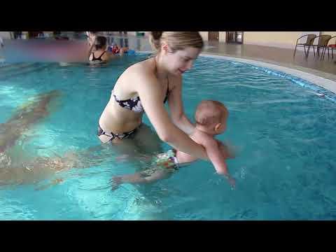 Грудничковое плавание в бассейне. Комплекс упражнений с грудным ребёнком.