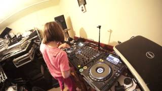 STEP DAUGHTER NUMBER 2 GETS A DJ MIXING LESSON