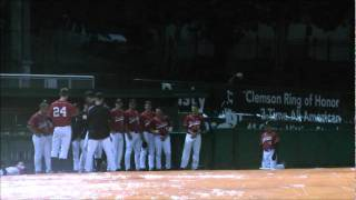 Clemson vs Davidson Baseball Rain Delay Golf