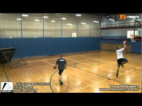 Outlet and Finish (Partner): Goalrilla G Trainer Basketball Drill