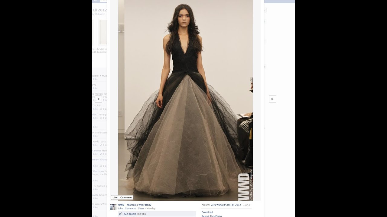 Vera wang fashions black wedding dress youtube vera wang fashions black wedding dress junglespirit Image collections