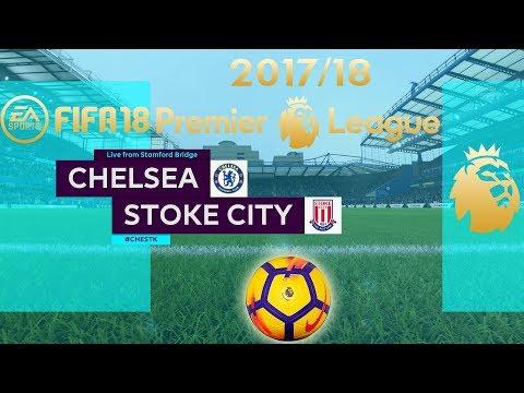 FIFA 18 Chelsea vs Stoke City | Premier League 2017/18 | PS4 Full Match