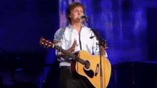 """Paul McCartney """"And I Love Her"""" Safeco Field Seattle 7/19/2013 #OutThere"""