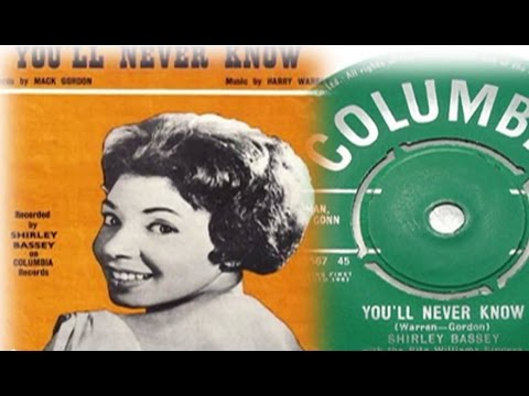 Shirley Bassey - You'll Never Know (1961 Recording)