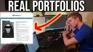 Do these deserve an interview? (REAL Web Developer Portfolio Reviews) #grindreel