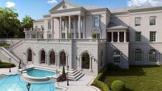 Дом в классическом стиле с колоннами