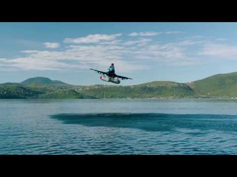 First footage of Larry Page's 'flying car'-- Kitty Hawk Flyer