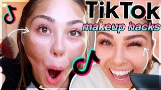 testing viral tik tok makeup hacks!! *I was not expecting this lol*