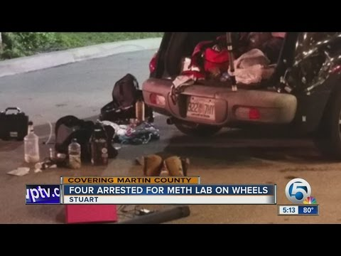 Four arrested for meth lab on wheels in Stuart, Florida