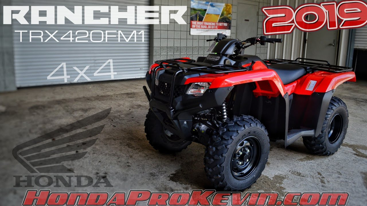 Honda 420 Rancher >> 2019 Honda Rancher 420 4x4 Atv Trx420fm1 Walk Around Video Red Review Hondaprokevin Com