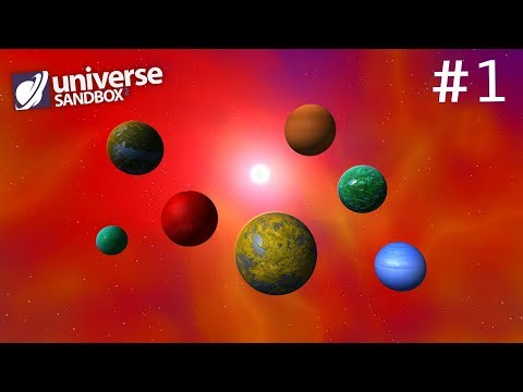 Making A Solar System Out Of Rainbow Coloured Objects Part 1, Universe Sandbox ²