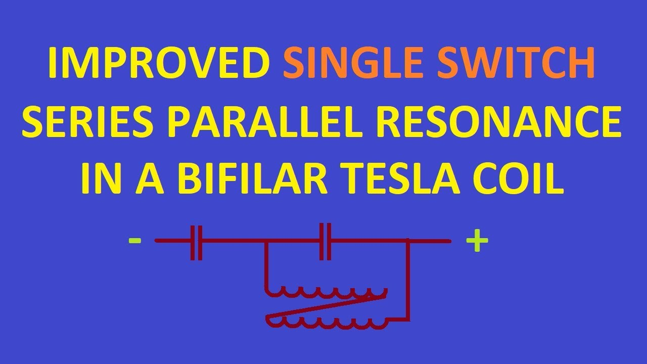 Amplified series parallel bifilar coil resonance, from a single mosfet  switch