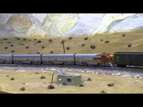 1954 Santa Fe Fast Mail Express #7 N Scale
