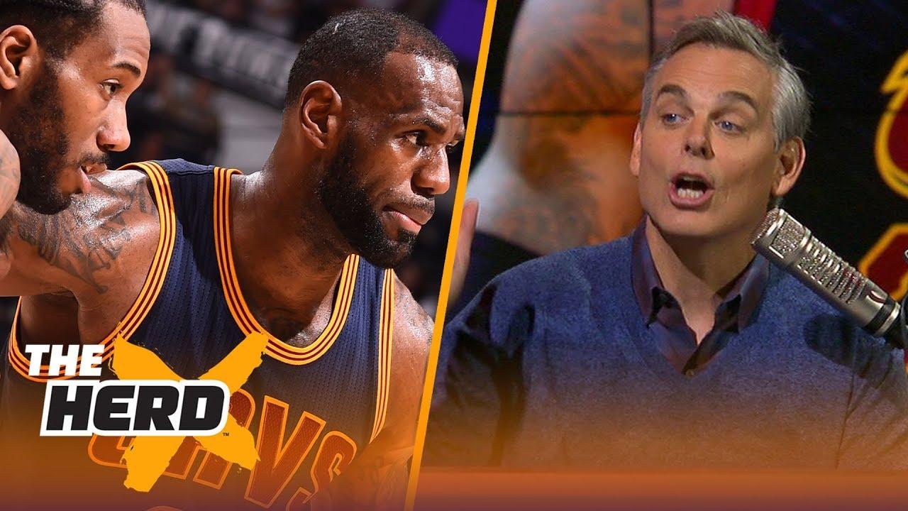 Colin Cowherd's 3 factors to the Spurs trading Kawhi Leonard to Magic's Lakers | NBA | THE HERD