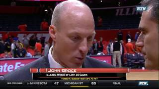 Michigan at Illinois - Men's Basketball Highlights