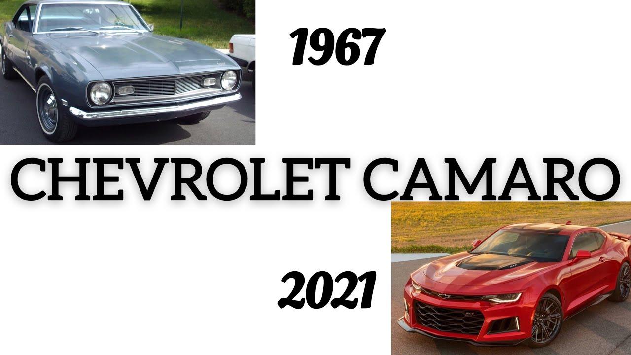 EVOLUTION OF THE CHEVROLET CAMARO 1967-2021 INTERIOR&EXTERIOR ...