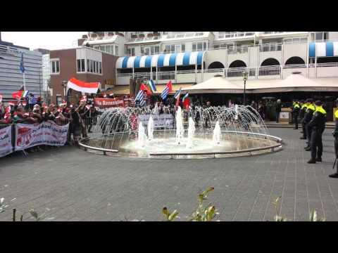 President Jokowi di sambut demo RMS di Belanda