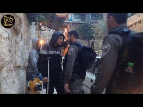 Israeli Soldier Attacking A Wounded Guy In Jerusalem