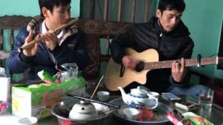 Lệ Tình - sáo trúc Cao Trí Minh + guitar anh Bình