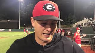 Georgia baseball pitcher Tony Locey, @MikeGriffith32 video
