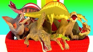 Spinosaurus Dinosaur Toy Collection Learn Fun Facts in English